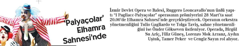 Cumhuriyet  24 Mart 2015 Palyaçolar